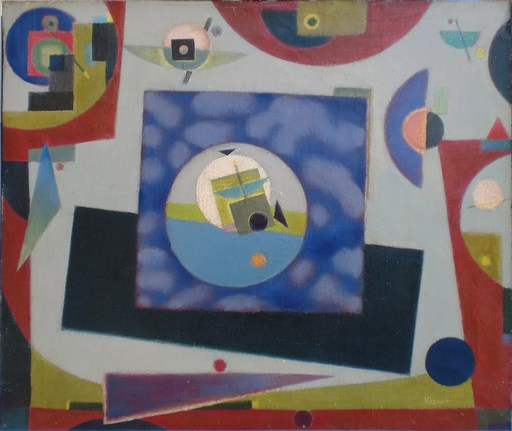 Boris Herbert KLEINT - Gemälde - Durchblick Violett