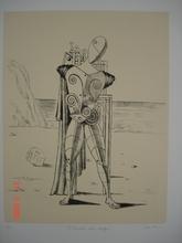 Giorgio DE CHIRICO - Grabado - Il trovatore sulla spiaggia