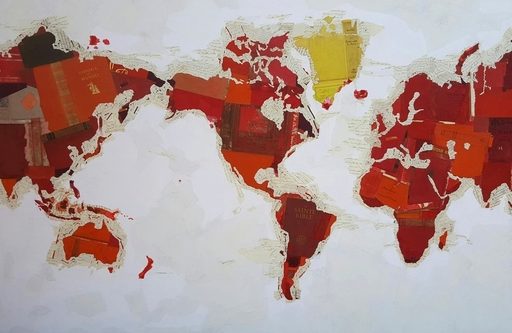 Fernando ALDAY - Painting - Religious Map