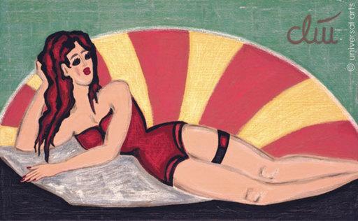 Jacqueline DITT - Painting - Kokett (Coquettish)
