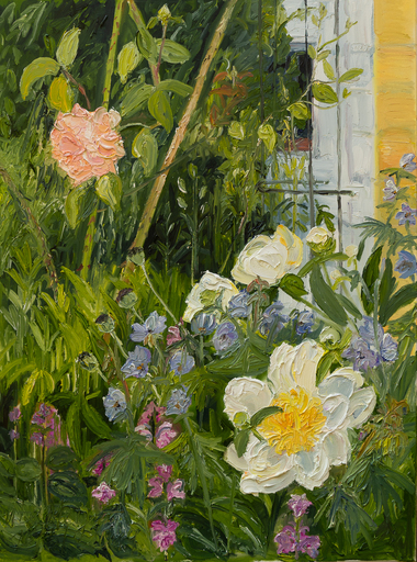 Ute MEYER - Gemälde - peonies and rose