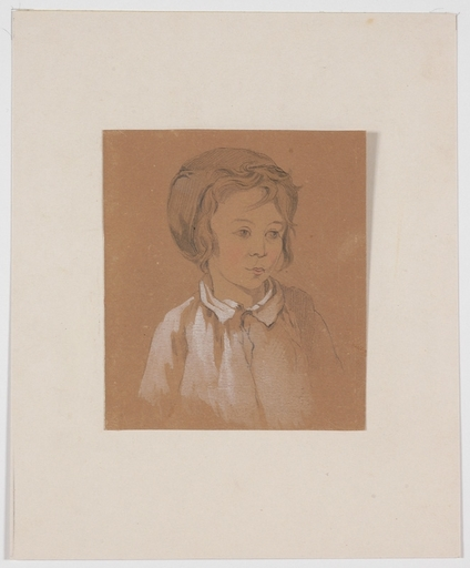"Josef DANHAUSER - Zeichnung Aquarell - ""Portrait of a Little Boy"", early 19th century"