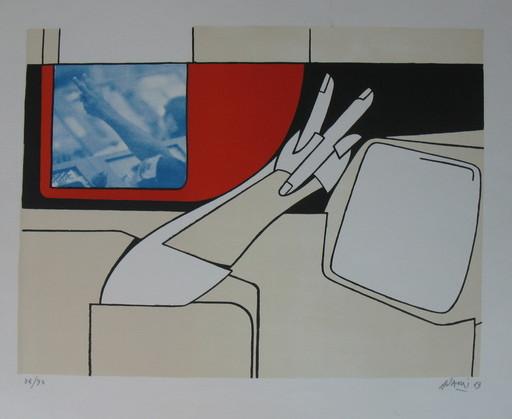 Valerio ADAMI - Print-Multiple - *On The Moon
