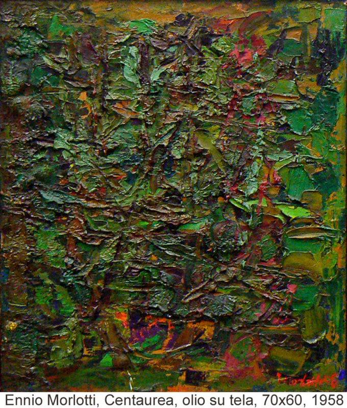 Ennio MORLOTTI - Painting - Centaurea