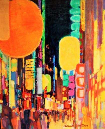 Daniel BOBILLIER - Pittura - Lumières de la ville.