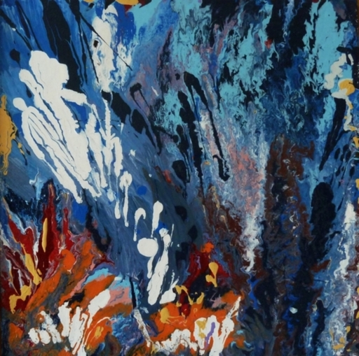 NADIA - Peinture - Bleu profond 2