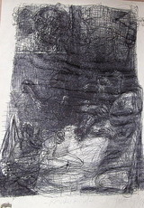 Johannes HEISIG - Drawing-Watercolor - Krankes Kind