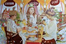 Irina VOLOVA - Painting - Theeceremonie    (Cat N° 6409)