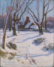 Henry MORET - Pintura - Neige en Bretagne