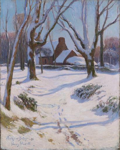 Henry MORET - Gemälde - Neige en Bretagne