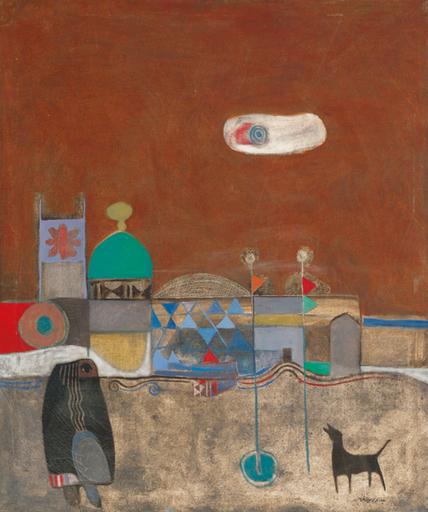 Dia AL-AZZAWI - Painting - Visit to al-Kassim