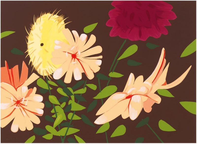 Alex KATZ - Print-Multiple - Late Summer Flowers