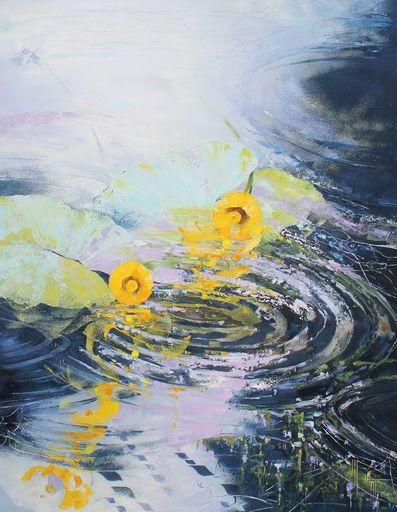Nadine PILLON - Painting - Des ronds dans l'eau