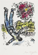 Marc CHAGALL (1887-1985) - The Artist's Bouquet (Plate 1 from Behind the Looking Glass)