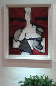 Claude VENARD - Pintura - Composition Rouge au Verre à Pied