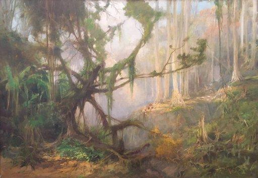 Frans BAKKER - Pintura - Paysage en Indonèsie