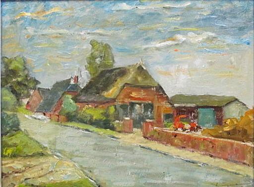 Walter BRÜGGMANN - Painting - Landschaft in Vierlanden.