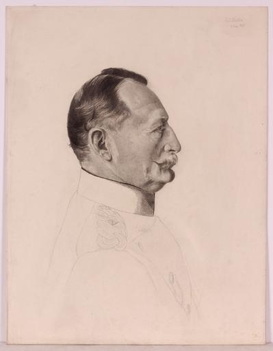 "Karl MEDIZ - 水彩作品 - ""Portrait of the German State Minister Planitz"", 1895"