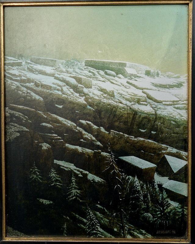 "Jean-Pierre UGARTE - Painting - ""Derniére Neige"""