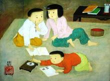 Trung Thu MAI - Peinture - lecon d'ecriture