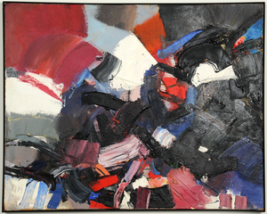 Jean MIOTTE - Peinture - Abstract Composition