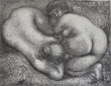 阿里斯蒂德•马约尔 - 版画 - Two Woman in the Grass