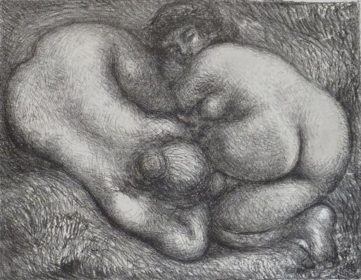 Aristide MAILLOL - Druckgrafik-Multiple - Two Woman in the Grass