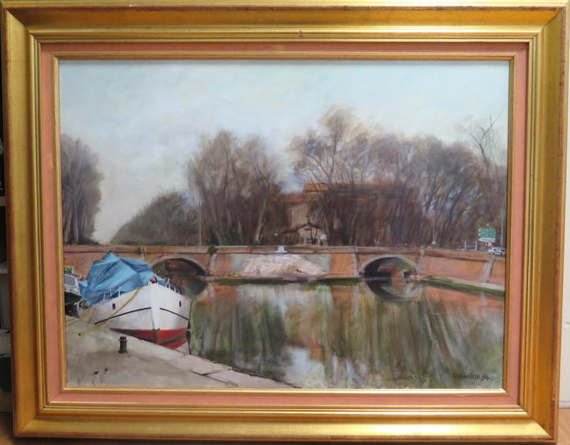 Jean-Jacques CORNEILLE - Peinture - Toulouse Les ponts-jumeaux