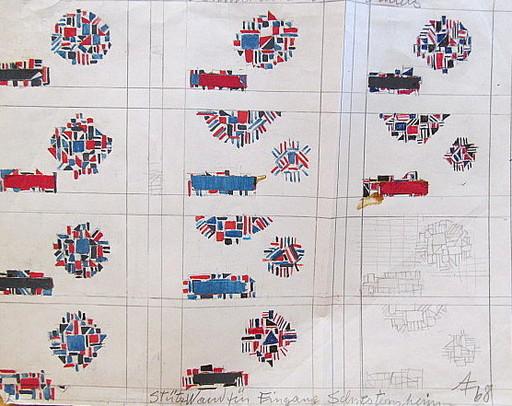 Arnold FIEDLER - Disegno Acquarello - Lohmühlenkrankenhaus - Entwurf