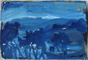 Vasyl KHMELUK - Drawing-Watercolor - Paysage bleu