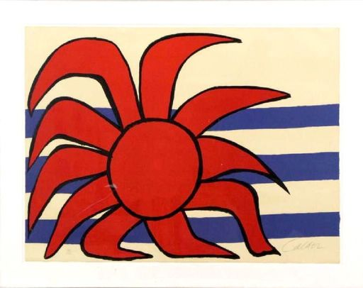 Alexander CALDER - Print-Multiple - Sun and sea