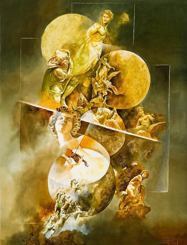 Roger SURAUD - Gemälde - Le Maître du Jeu