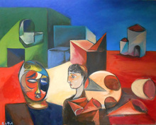 Roman LASA - Peinture - Sans titre