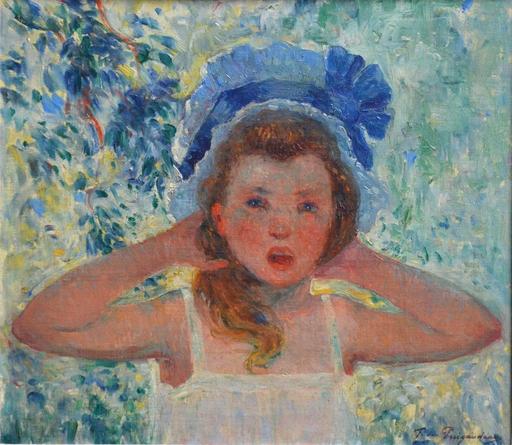 Ferdinand Loyen DU PUIGAUDEAU - Pintura - Portrait de jeune fille