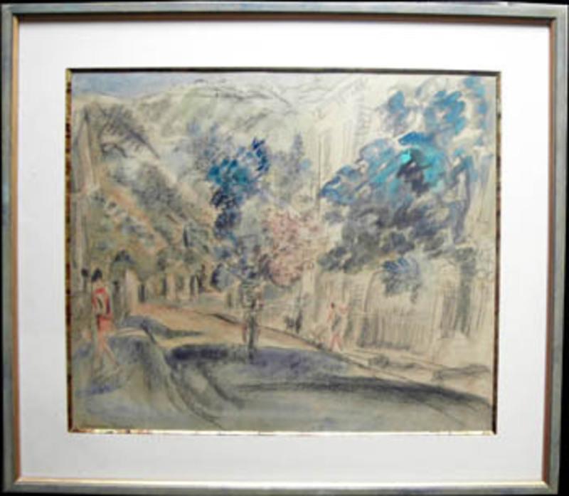 Hermine DAVID - Dibujo Acuarela - Rue à Paris