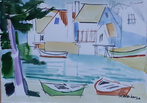 Miguel Angel SANCHEZ LAREO - Zeichnung Aquarell - LANCHAS