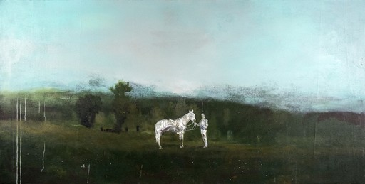 Peter HOFFER - Peinture - Horse and Rider