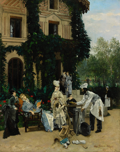 Louis-Robert CARRIER-BELLEUSE - Peinture - The Crêpe Maker