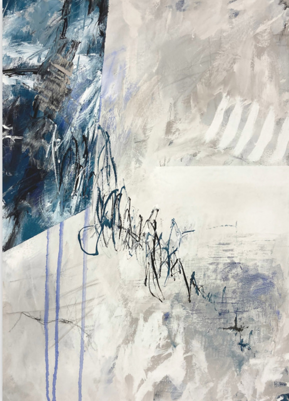 Jutta Rika BRESSEM - Painting - Letters to an unknown friend I