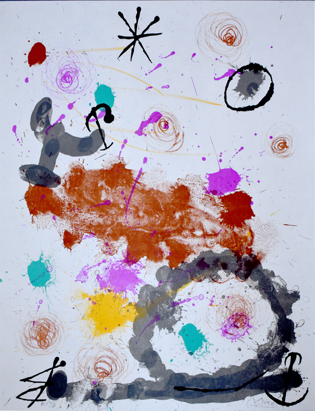 Joan MIRO - Print-Multiple - Composition III, from: A few Flowers for Friends