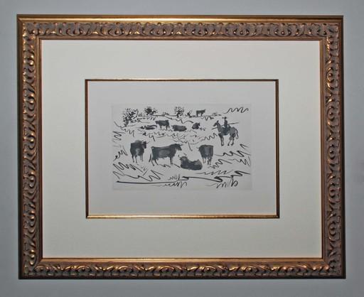 Pablo PICASSO - Grabado - Toros en el Campo (Bulls in the Field)
