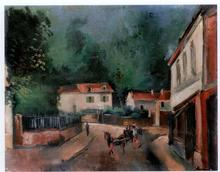 Maurice DE VLAMINCK (1876-1958) - Place de village