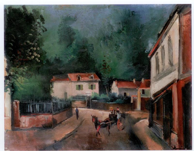 Maurice DE VLAMINCK - Painting - Place de village