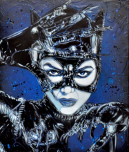 C215 - Pittura - Cat Woman