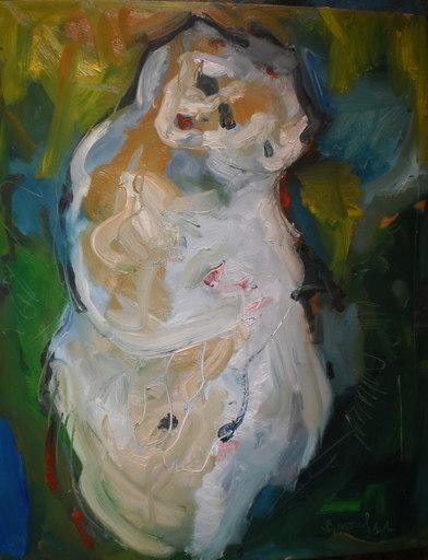 Bernard MOREL - Painting - ELLE ET ENFANT