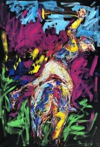 Nicole LEIDENFROST - Gemälde - Polo Abstrakt