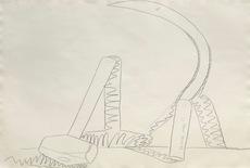Andy WARHOL - Dibujo Acuarela - Hammer and Sickle