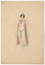 "Rudolf HAFNER - Drawing-Watercolor - ""Stage costume design"" watercolor, 1920s"