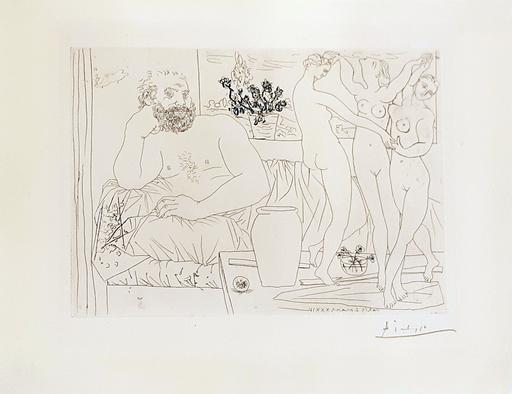 Pablo PICASSO - Stampa-Multiplo - Sculpteur et trois danseuses sculptées - from Suite Vollard