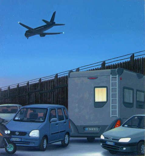 Aldo DAMIOLI - Peinture - Notturno